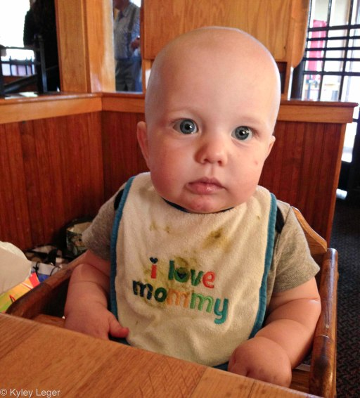 First time in a restaurant high chair. Not impressed.